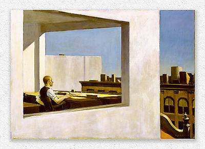 Edward Hopper  Office In A Small City  70x100cm  STAMPA TELA CANVAS PRINT TOILE