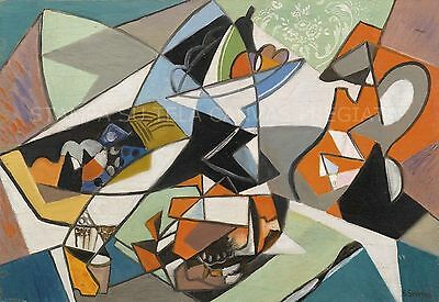 Gino Severini     Le crabe et le pot orange    50 X 70 cm  TELA CANVAS QUADRI