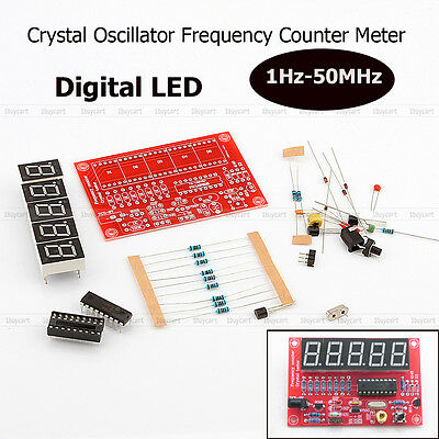 Nuovo 1Hz-50MHz Cristallo Frequency Oscillator Meter Counter Kit Digital DIY set