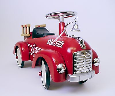 Speedster Kids Ride On Scoot Along Fire Truck (Red) Hook and Ladder