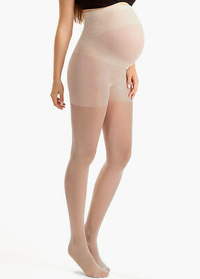 NEW - Blanqi - Ultra Sheer Belly Support Maternity Pantyhose in Nude