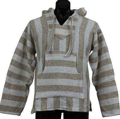 Genuine Baja Hoodie Surfer Poncho Pullover Jacket Brown Theme Unisex Extra Large
