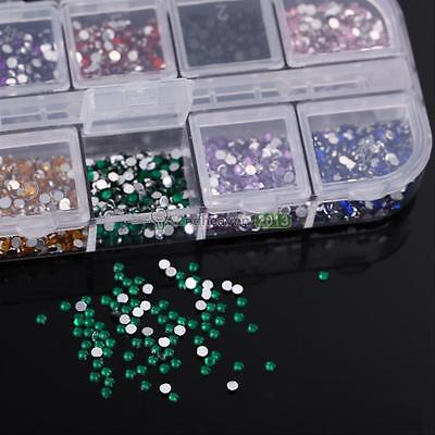 3600Pcs DIY Nail Art Tips Gems Rhinestones Phone Decor Jewelry Maker Hard Case
