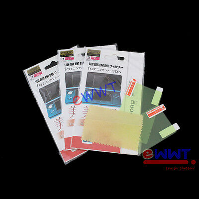 3x Clear Top+Bottom Screen Protector Guard + Cloth for Nintendo 2DS N2DS ZVSP199