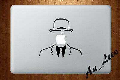 Macbook Air Pro Vinyl Skin Sticker Decal Anonymous Apple Man Suit Hat M764