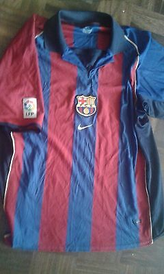 2002 XL FC Barcelona Camiseta Futbol Football Shirt