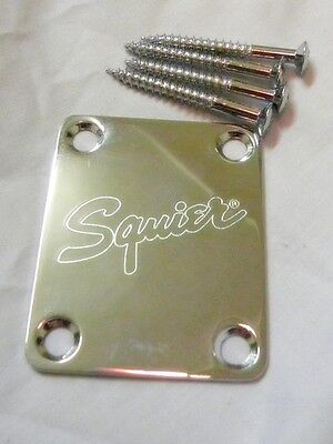 Brand New Original Fender Squier '51 Neck Plate Chrome W/ Screws