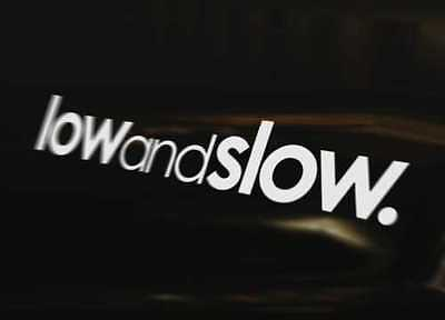 LOW AND SLOW Bumper Sticker Window Laptop Bike Wall Graphic Sign