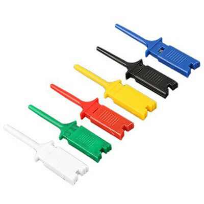 12X SMD IC 6 Colors Test Hook Clip Grabbers Test Probe LW