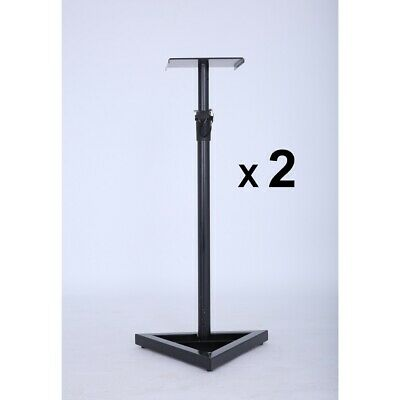 2X PA Studio Monitor Speaker Floor Stand Holder DJ Band Stage Music Home Theatre