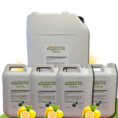 Floor Gel Bacteriostatic Buffable Floor Cleaner Pine/Lemon Variable Sizes CSUK