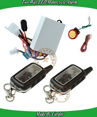 LED Motorcycle Security System Invisible Alarm And Remote Anti-Theft Functions