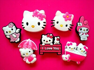 Jibbitz Croc Clog Shoe Plug Button Charm Fit WristBands Sandals Hello Kitty Lot