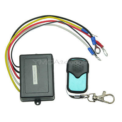 Wireless Winch Remote Control Kit DC 12V Up To 50ft/15m for Truck Jeep SUV ATV