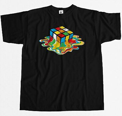 Melting Rubix Cube Sheldon Inspired By The Big Bang Theory Mens T-Shirt