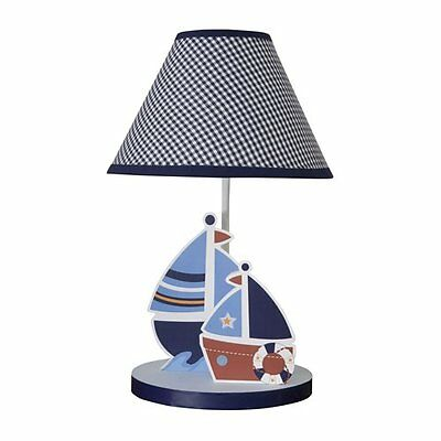 Bedtime Lamp With Shade and Light Bulb Sailboat Bedroom Home Decor Baby Infant