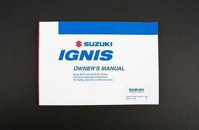 Genuine Suzuki Ignis RM Owners Manual 99011U86G21-02E