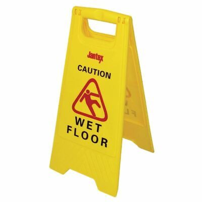 Jantex Wet Floor Safety Sign Two Sided and Free Standing Made of Plastic