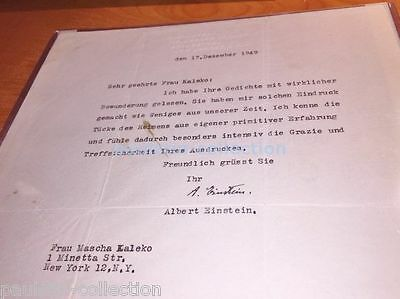 Albert Einstein - Autographed Letter Signed Dated; Authentic Signature, PSA DNA