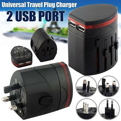 New 3 USB Ports Multiple Power Adapter AC Charger Travel Wall UK Plug White