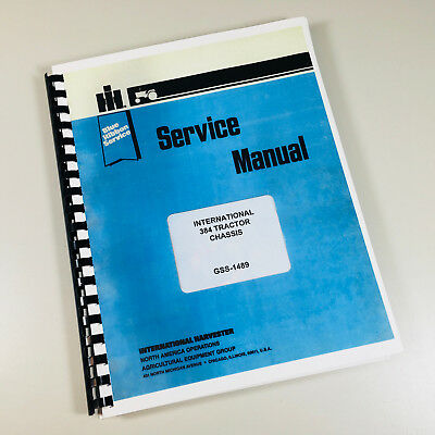 International 384 Tractor Service Repair Shop Manual Chassis Only