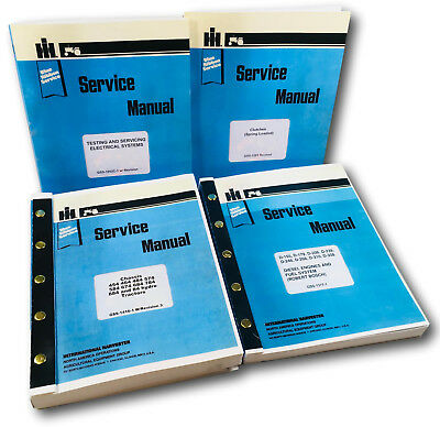Lot International 584 674 684 884 84 Hydro Tractor Service Repair Shop Manuals