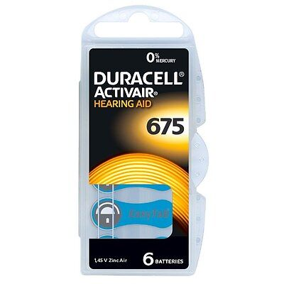 Duracell Activair Mercury Free Hearing Aid Batteries Size 675