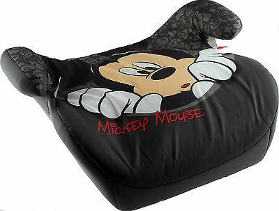 Grey Black Mickey Mouse Child's Car Booster Seat Age 3 - 11 yrs. 15 -35 kg