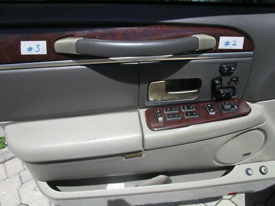 03 11 Lincoln Town Car Door Panel Pull Strap End Cap Handle Cover