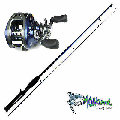 NEW Baitcaster Rod & Reel Combo 1.7M rod, LEFT HAND, great for kayak fishing