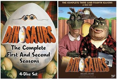 """Dinosaurs Complete Series 1-4 Collection 8 Disc Dvd Box Set """"new&sealed"""""""