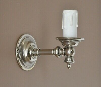 WELLINGTON-CLASSIC PROVINCIAL STYLE WALL LIGHT-ANTIQUE NICKEL-BRACKET-vintage