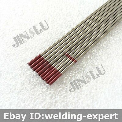 Assorted Red Tip 2% Thoriated Tig Tungsten Electrode WT20 1.6mm 2.0mm 10PK