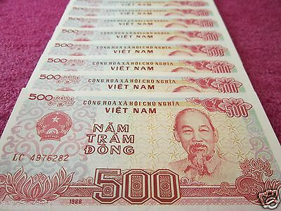 Viet Nam Paper Money Vietnam Currency 40 PCS Lot 500 Vietnamese Dong Each