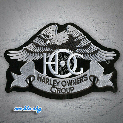 Small Silver Heritage Eagle Patch ~ Harley Davidson Owners Group HOG H.O.G.