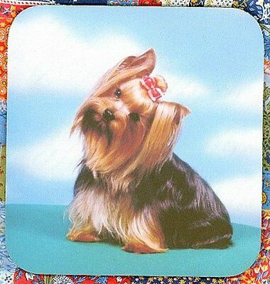 YORKSHIRE TERRIER Heavy Rubber Backed Mousepad #0924 YORKIE