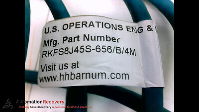 H.h. Barnum Rkfs8J45S-656/b/4M Cordset 8P F St To Ethernet End 4M