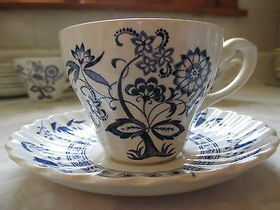 J&g Meakin Classic Blue Nordic Cup & Saucer England