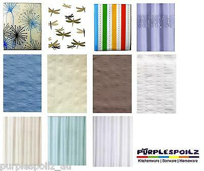 NEW SHOWER CURTAIN Curtains Polyester Fabric 180cm x 180cm 12 FREE RINGS