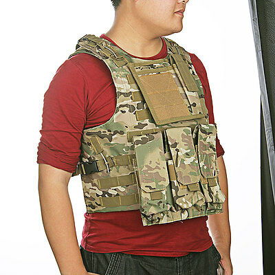 MOLLE Tactical Military Army Paintball Airsoft Combat Assault Vest Adjustable