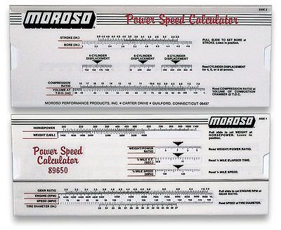 [89650] Moroso POWER-SPEED CALCULATOR