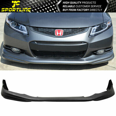 Fit 12-13 Honda Civic 9th 2Dr Coupe Modulo Style PU Front Bumper Lip