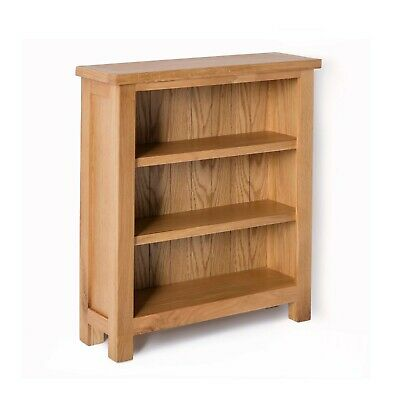 London Oak Small Bookcase / Narrow Bookcase / Solid Wood Shelving / Brand New
