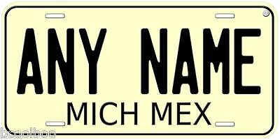 Michoacan 1968 Mexico Any Name Novelty Car License Plate