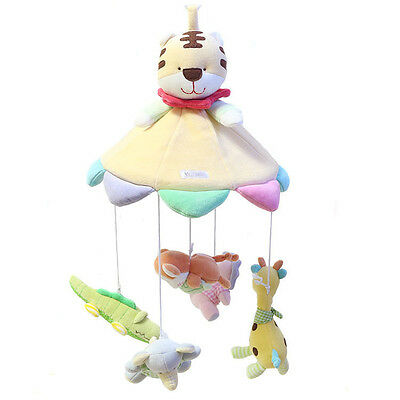 Cute Animal Baby Educational Rattle Music Mobile Cot Rotate Stroller Rattle Toys