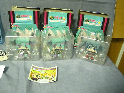 Vocaloid Hatsune Miku Japan Anime Chibi Figure Lot of 3