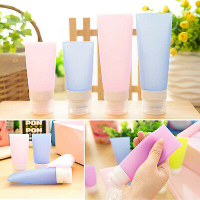 Portable Silicone Travel Packing Bottles Cosmetics Shampoo Container Reusable CN