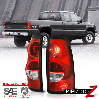 2003-2006 Chevy Silverado Factory Style Red Brake Tail Lights +Wiring +Bulbs