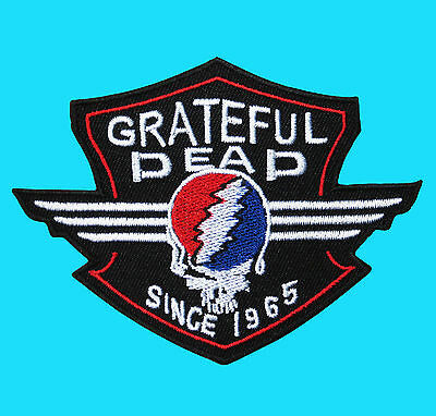 GRATEFUL DEAD Heavy Metal Rock Music Embroidered Iron On Vest Patch Skull Face
