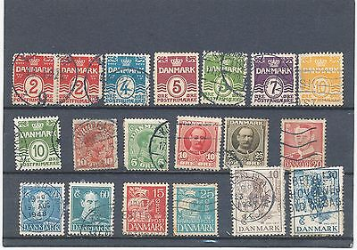 timbres anciens du DANEMARK  lot  N° 1